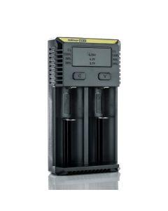 Nitecore NEW i2 Battery Charger - Black EU Plug